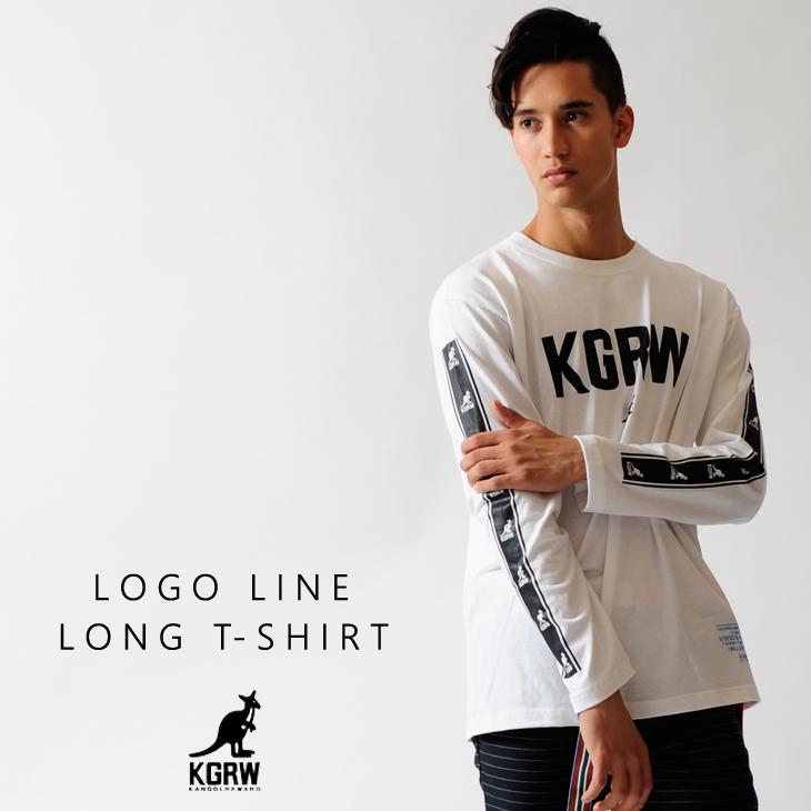 KANGOL REWARD ロゴライン長袖Tシャツ