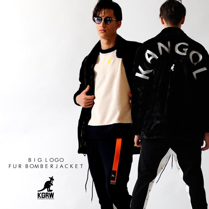 KANGOL REWARD 中綿 BIG LOGOファーボンバージャケット