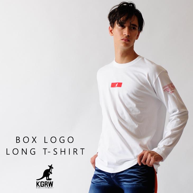 KANGOL REWARD ボックスロゴ長袖Tシャツ