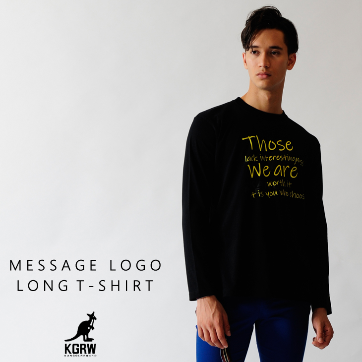 KANGOL REWARD メッセージロゴ長袖Tシャツ