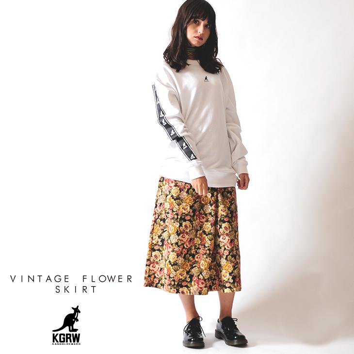 KANGOL REWARD ヴィンテージフラワースカート