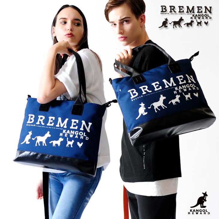 【完全受注生産  BREMEN×KANGOL REWARDコラボアイテム】 2wayトートバッグ