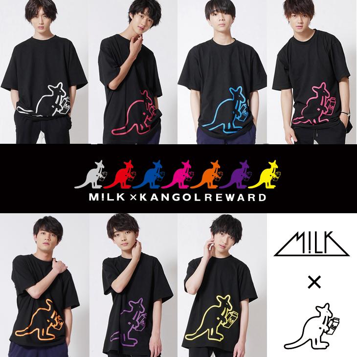 【完全受注生産】  M!LK×KANGOL REWARD コラボ半袖Tシャツ