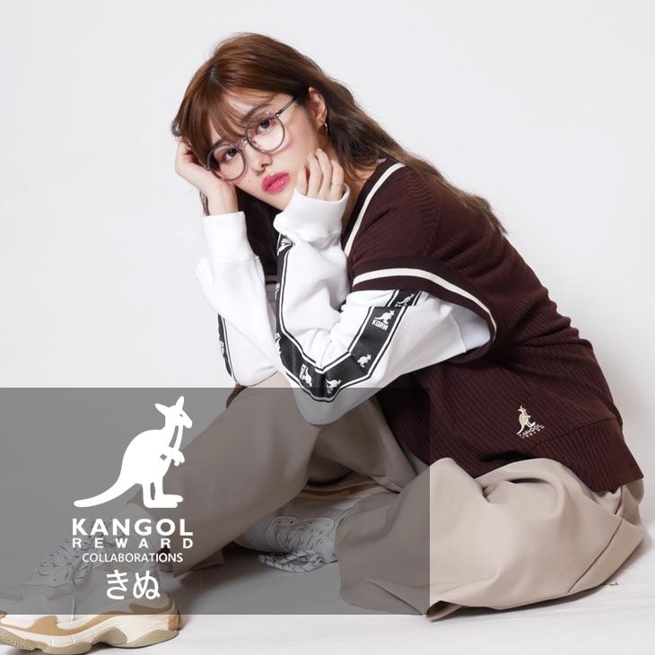 【完全受注生産】  きぬ×KANGOL REWARD コラボ ニットベスト ◆ニットベスト