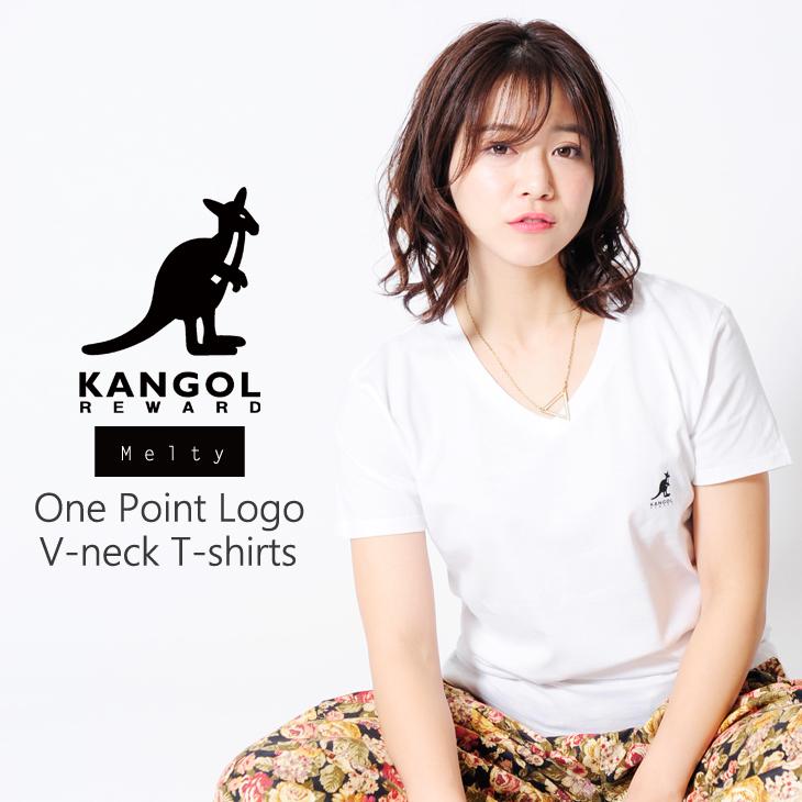 【完全受注生産】   Melty×KANGOL REWARD インフルエンサーコラボVネック半袖Tシャツ