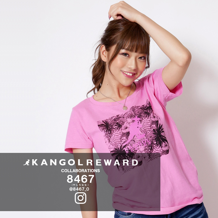 【完全受注生産】  8467 (やしろなな)×KANGOL REWARD インフルエンサーコラボ半袖Tシャツ