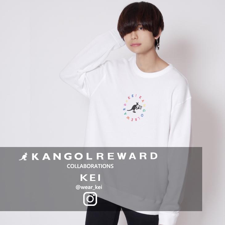 【完全受注生産】 KEI×KANGOL REWARD インフルエンサーコラボ  トレーナー