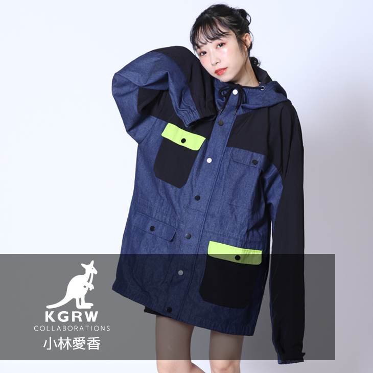 【完全受注生産】  小林愛香×KANGOL REWARDコラボ企画第二弾 マウンテンパーカー
