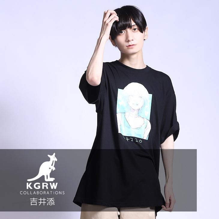 【完全受注生産】  吉井添×KANGOL REWARD コラボ半袖Tシャツ