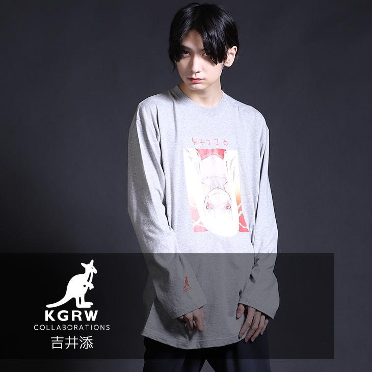 【完全受注生産】  吉井添×KANGOL REWARD コラボ長袖Tシャツ