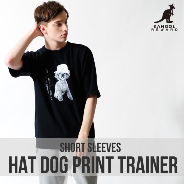 KANGOL REWARD HAT DOGプリント半袖トレーナー