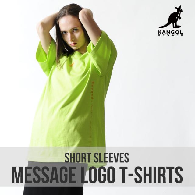 KANGOL REWARD メッセージロゴ半袖Tシャツ