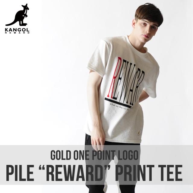 KANGOL REWARD金糸刺繍ワンポイントクルーネック半袖Tシャツ