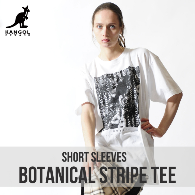 KANGOL REWARD ボタニカルストライプTシャツ