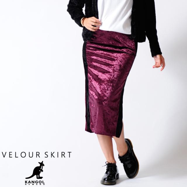 KANGOL REWARD ベロアスカート