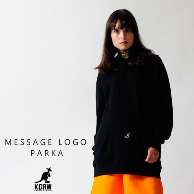 KANGOL REWARD メッセージロゴ パーカー