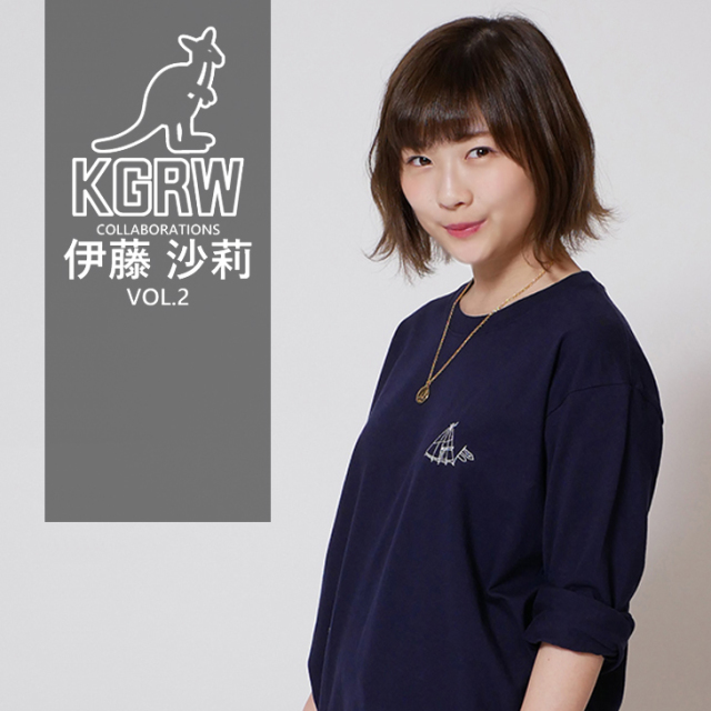 【完全受注生産】   伊藤沙莉×KANGOL REWARDコラボ企画第二弾!長袖Tシャツ