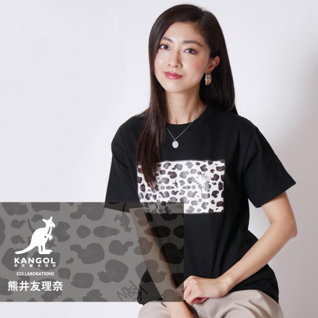 【完全受注生産】  熊井友理奈×KANGOL REWARD コラボ半袖Tシャツ