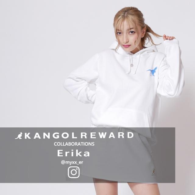 【完全受注生産】  Erika×KANGOL REWARD インフルエンサーコラボパーカー