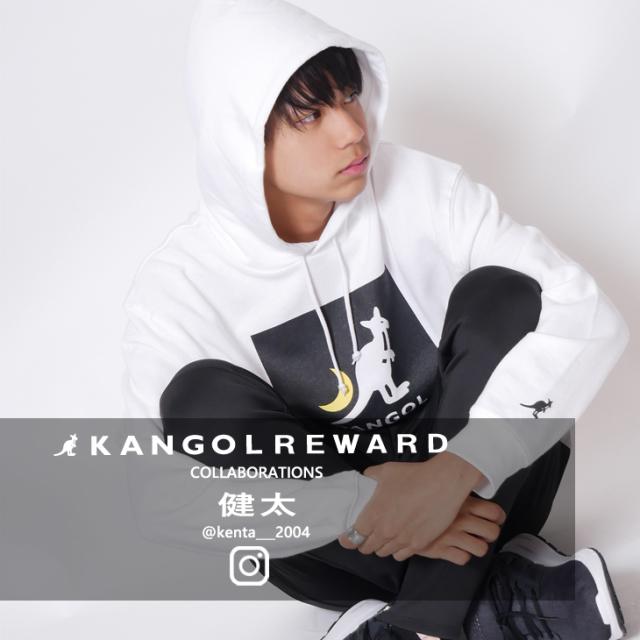 【完全受注生産】  健太×KANGOL REWARD インフルエンサーコラボパーカー