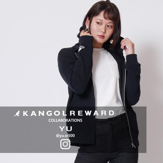 【完全受注生産】  YU×KANGOL REWARD インフルエンサーコラボパーカー