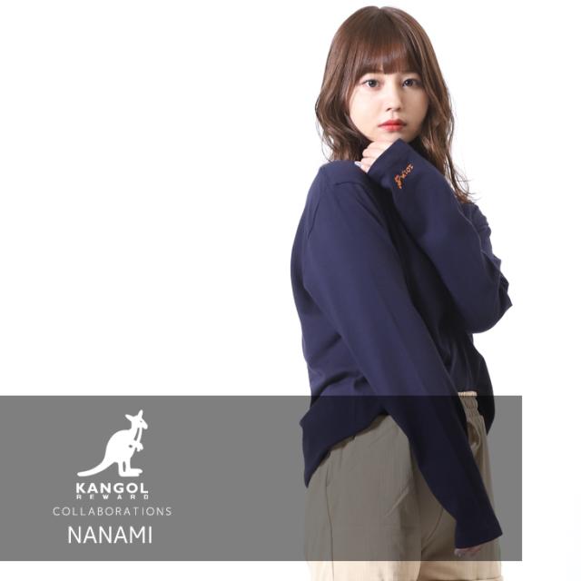 【完全受注生産】 NANAMI×KANGOL REWARD コラボ長袖Tシャツ