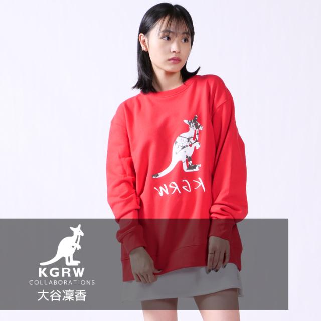 【完全受注生産】  大谷凜香×KANGOL REWARDコラボ トレーナー