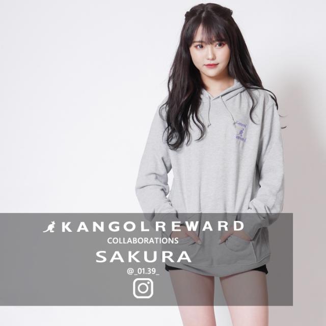 【完全受注生産】 SAKURA×KANGOL REWARD インフルエンサーコラボパーカー