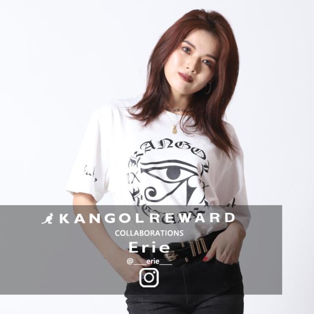 【完全受注生産】  Erie×KANGOL REWARD コラボ半袖Tシャツ