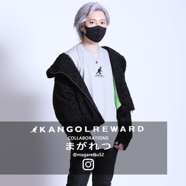 【完全受注生産】  まがれつ×KANGOL REWARD  コラボ長袖Tシャツ TYPE:B