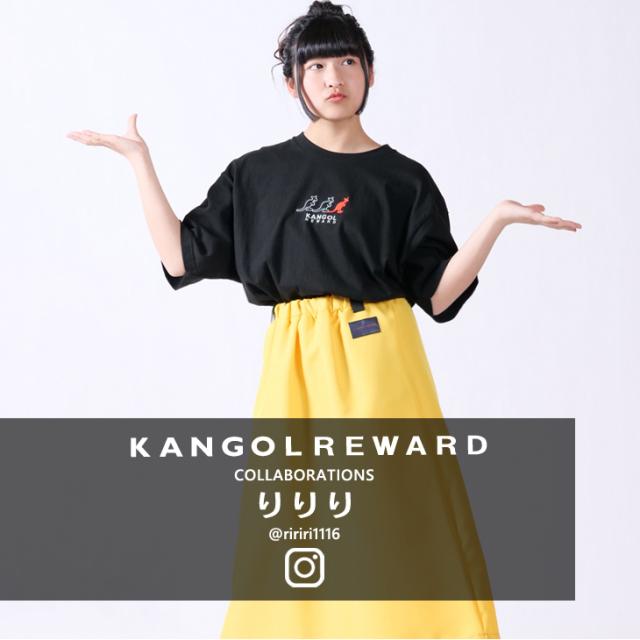【完全受注生産】  りりり×KANGOL REWARD コラボ半袖Tシャツ