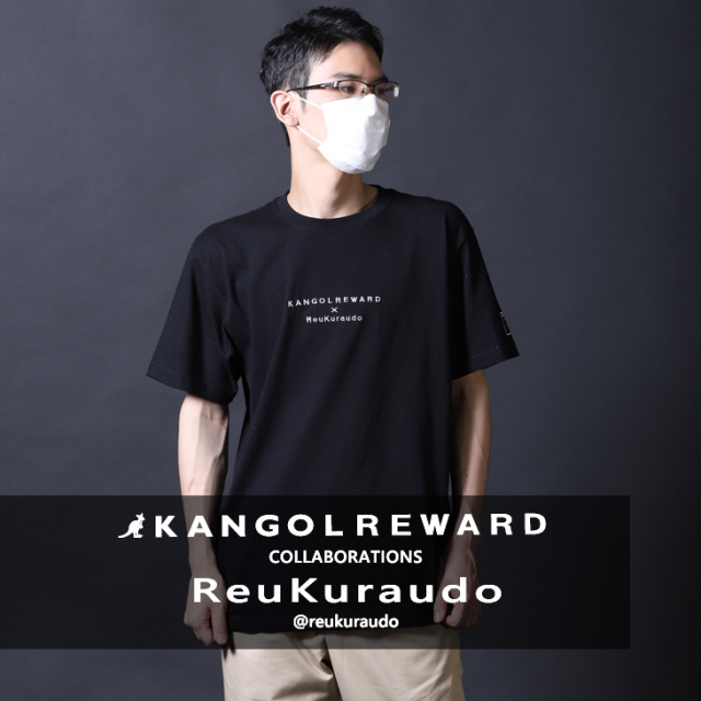 【完全受注生産】  レウクラウド×KANGOL REWARD コラボ半袖Tシャツ