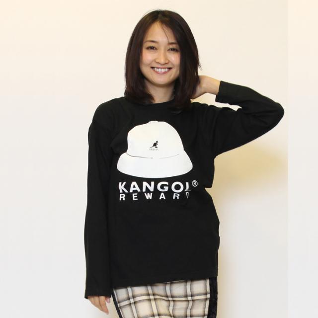 KANGOL REWARD バケットハットプリント長袖Tシャツ