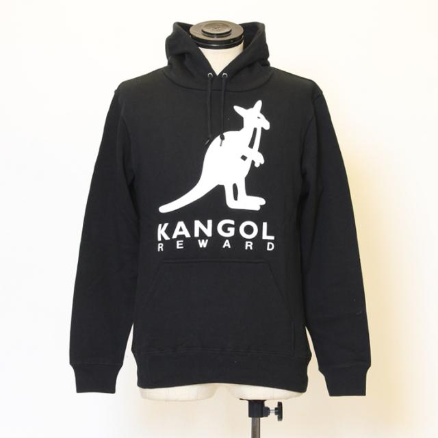 KANGOL REWARD レディースロゴプリントプルオーバーパーカー