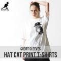 KANGOL REWARD HAT CATプリント半袖Tシャツ