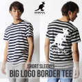 KANGOL REWARD BIG LOGOボーダーTシャツ