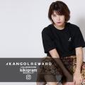 【完全受注生産】  kikigram×KANGOL REWARD インフルエンサーコラボ半袖Tシャツ