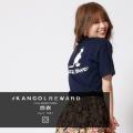 【完全受注生産】  悠衣×KANGOL REWARD インフルエンサーコラボ第2弾◆半袖Tシャツ