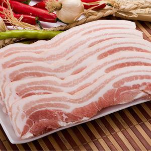 ▲冷凍▼皮付豚バラ肉スライス6-7mm「皮付サムギョプサル」1kg■韓国食品■ 0425