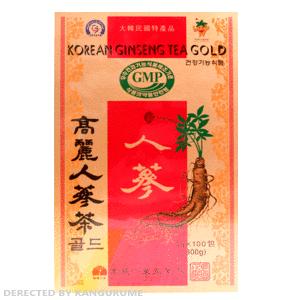 高麗人参茶「紙箱」100包入り■韓国食品■ 0836