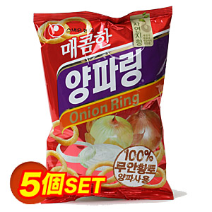 辛口ヤンパリン「オニオンスナック」【5個SET】■韓国食品■ 1842-1