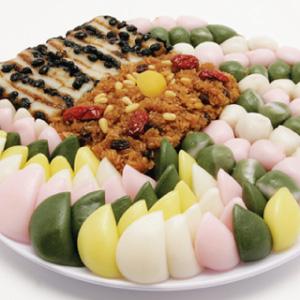 ◆冷蔵◆【取り寄せ】「餅」モドウムトック皿セット大■韓国食品■ 1927