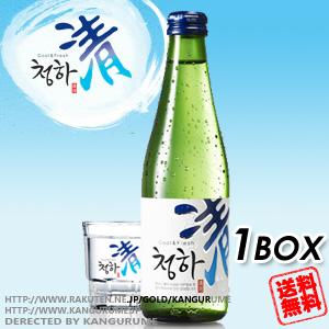 【送料無料】清河「チョンハ」焼酎300ml×24本【1BOX】■韓国食品■ 0108-1