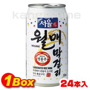 【送料無料】ソウル月梅マッコリ「缶」350ml×24本【1BOX】■韓国食品■ 0177-1