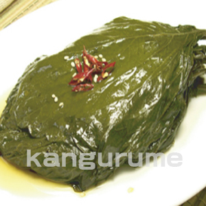 ◆冷蔵◆自家製えごまの葉キムチ500gー醤油■韓国食品■ 0214