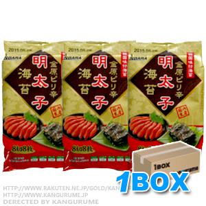 「明太味付け海苔「3個入り」×12袋【1BOX】■韓国食品■【韓国海苔】0361-1