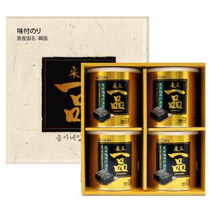 ★ギフトセット★宋家一品天日塩味付海苔(30gx4缶)■韓国食品■0382