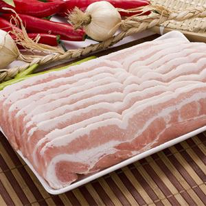 ▲冷凍▼豚バラ肉「サムギョプサル」1kg■韓国食品■ 0424