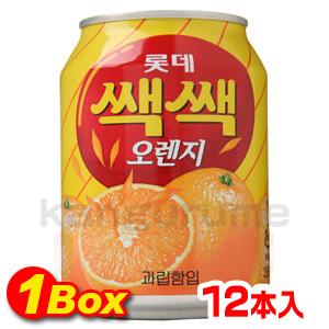 セクセク「オレンジジュース」238ml×12個【1BOX】■韓国食品■ 2303-1