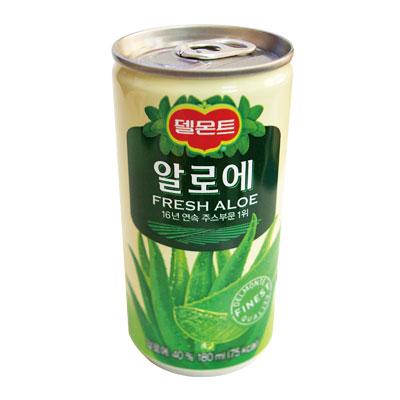 「デルモンテ」アロエジュース「缶」180ml■韓国食品■ 2307